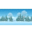 Seamless Christmas Landscape vector image vector image