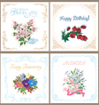Set of floral cards for any occasion vector image