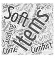 Soft Furnishings Word Cloud Concept vector image vector image