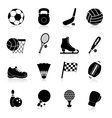 Sport Icons Black vector image