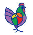stylized rooster vector image vector image