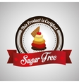 Sugar free design candy concept sweet icon vector image vector image