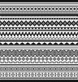tribal indian borders black white geometric vector image