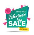 valentine s day sale banner website vector image