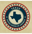 Vintage label Texas vector image
