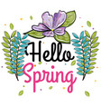 welcome spring design vector image vector image