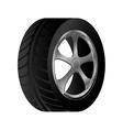 wheel car emblem icon vector image vector image