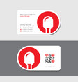white business card with red light emitted diode vector image