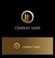 building cityscape gold company logo vector image