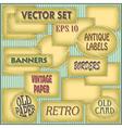 Old Paper Labels vector image