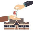 Selling and buying house real estate vector image