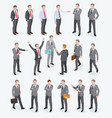group of business man isometric design vector image