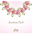 Invitation card with floral background vector image