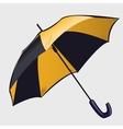 Classic black and yellow open umbrella vector image