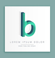 3d abstract style logo with letter b vector image