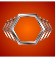 Abstract metal hexagon and arrows shape vector image vector image