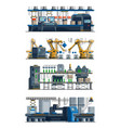 assembly line industrial automated conveyor vector image