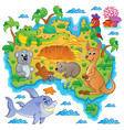 australian map theme image 3 vector image