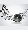 background with audio speake and music notes vector image