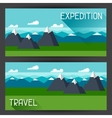 banners with mountain landscape in vector image