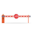 barrier with stop sign vector image