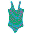 bathing suit on white background vector image vector image