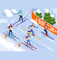biathlon isometric background vector image