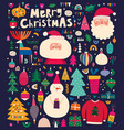 big christmas collection vector image vector image
