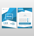 Blue annual report Leaflet Brochure Flyer template vector image vector image