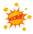 Boom Bubble Cartoon Flat Comic Style vector image vector image