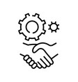 business agreements line icon concept sign vector image
