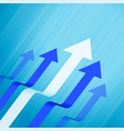 business leading and growth arrows blue concept vector image vector image