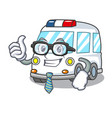 businessman ambulance character cartoon style vector image