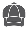 cap glyph icon clothing and casual hat sign vector image vector image