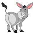cartoon happy donkey showing ass vector image vector image