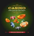 casino online background vector image vector image
