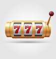 casino slot machine 3d gambling reel lucky vector image