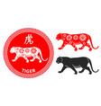 chinese zodiac symbol tiger vector image vector image