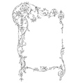 classic floral frame vector image vector image