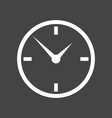 clock icon flat design on grey background vector image vector image