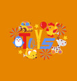 clockwork bright mechanic children toys shop vector image vector image
