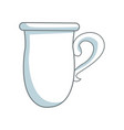 coffee cup ceramic beverage icon vector image