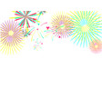color fireworks isolated on white background vector image vector image