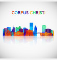 corpus christi skyline silhouette in colorful vector image vector image