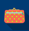 cosmetic bag icon in flat style isolated on white vector image