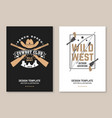 cowboy club poster flyer ranch rodeo vector image