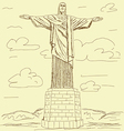 Cristo redentor vintage vector | Price: 1 Credit (USD $1)