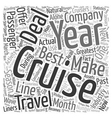 cruise deals Word Cloud Concept vector image vector image
