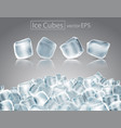 cubes of ice with the effect of transparency and vector image vector image