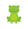 cute green frog cartoon character isolated on vector image vector image